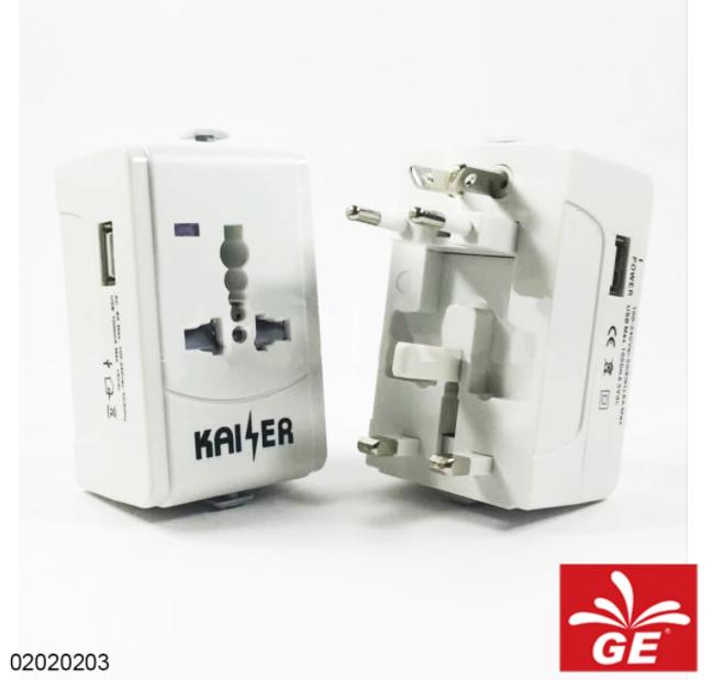Steker Universal KAISER XD-933 Dengan USB 02020203