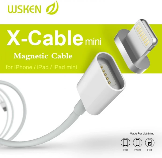 Kabel Data WSKEN X-Cable Metal Magnetic Cable Mini 2 to Lightning