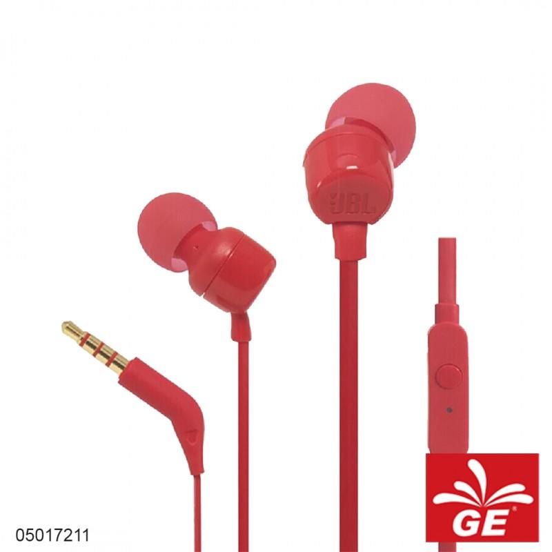 Earphone JBL T110 Merah 05017211