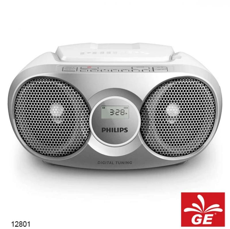 PHILIPS AZ215 SILVER SOUND MACHINE PEMUTAR CD/FM RADIO MODEL BARU