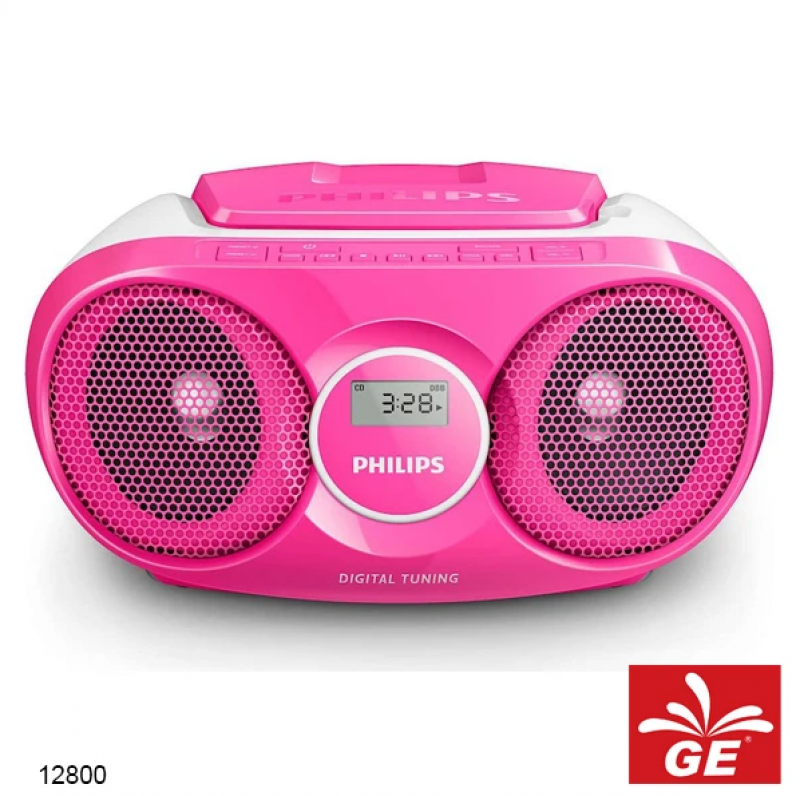 PHILIPS AZ215 PINK SOUND MACHINE PEMUTAR CD/FM RADIO MODEL BARU