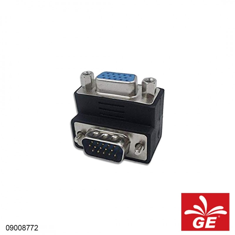 Adapter Connector GENDER VGA Male TO Female 15 Pin 90 Degree