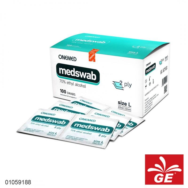 Tissue Alcohol ONEMED Medswab 2ply 01059188
