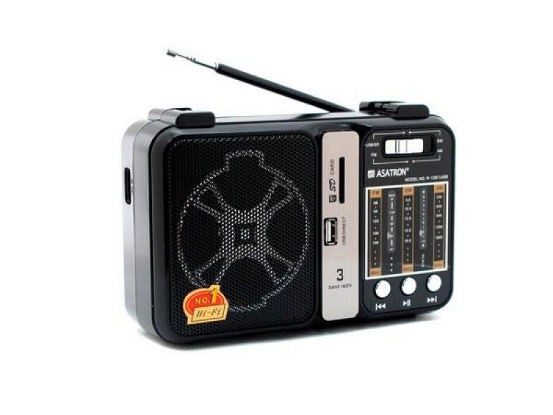 RADIO Asatron R-1061 USB AM FM SW USB-SD Music Player 05018178