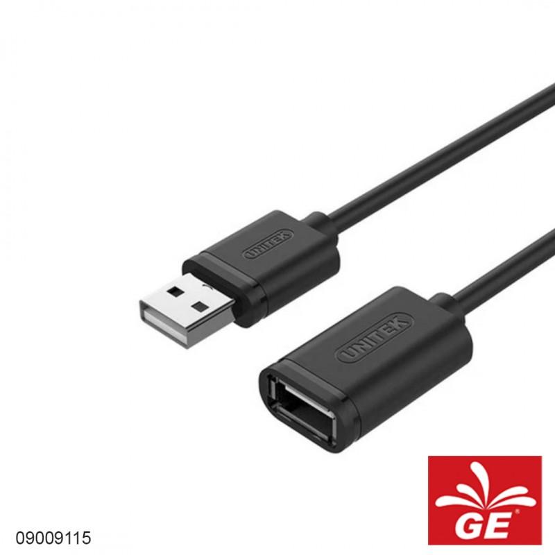 Kabel UNITEK Y-C449GBK USB2.0 A Male to A Female 1.5M 09009115