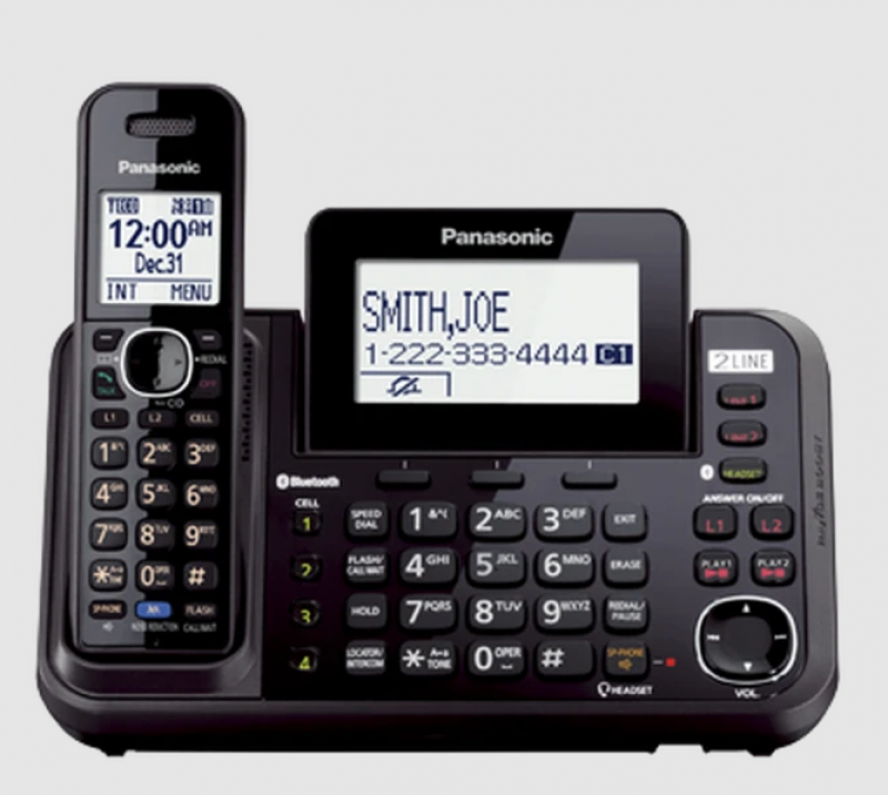 Panasonic KXTGF340B Dect 1-Handset Landline Telephone