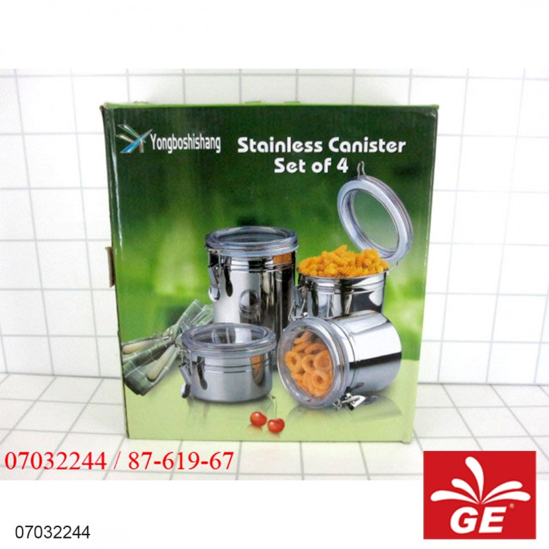TOPLES SET STAINLESS STEEL 4PC 54 07032244
