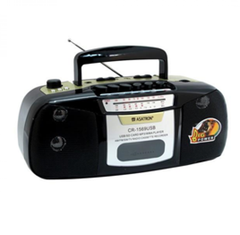 Radio Asatron CR-1569 USB Rechargeable Radio Kaset 12729