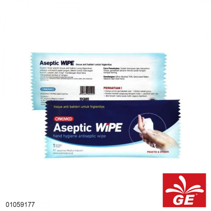 Tissue Aseptic ONEMED One Wipe 10pcs 01059177