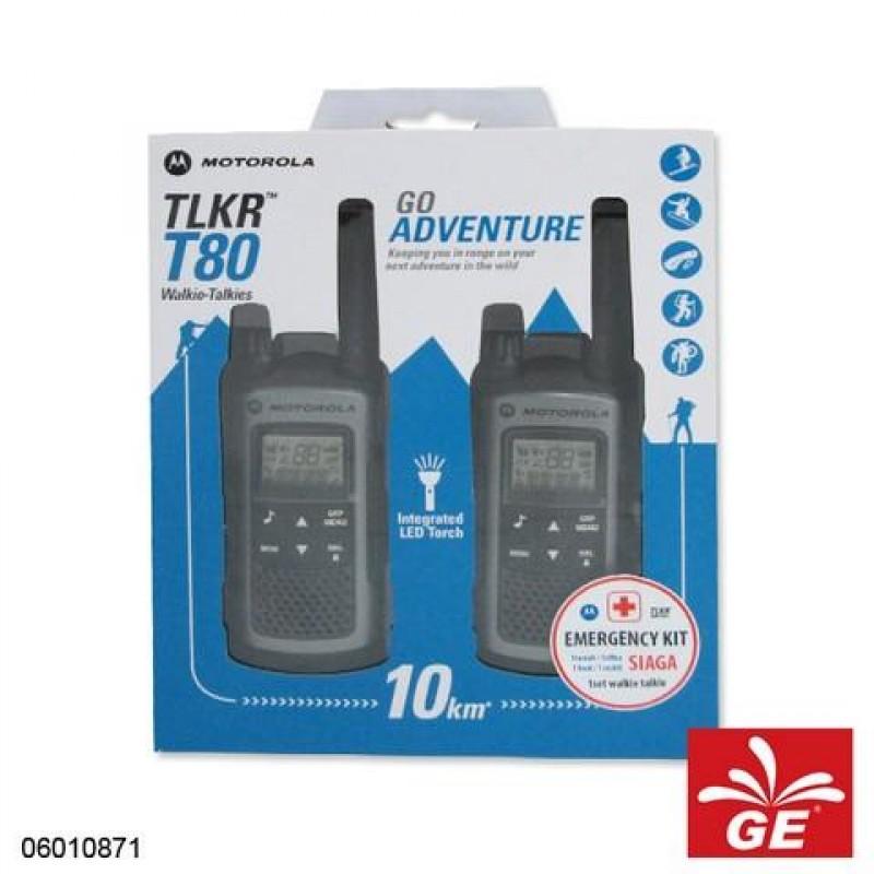 MOTOROLA T80 WALKIE TALKIE CONSUMER RADIO GO ADVENTURE 06010871