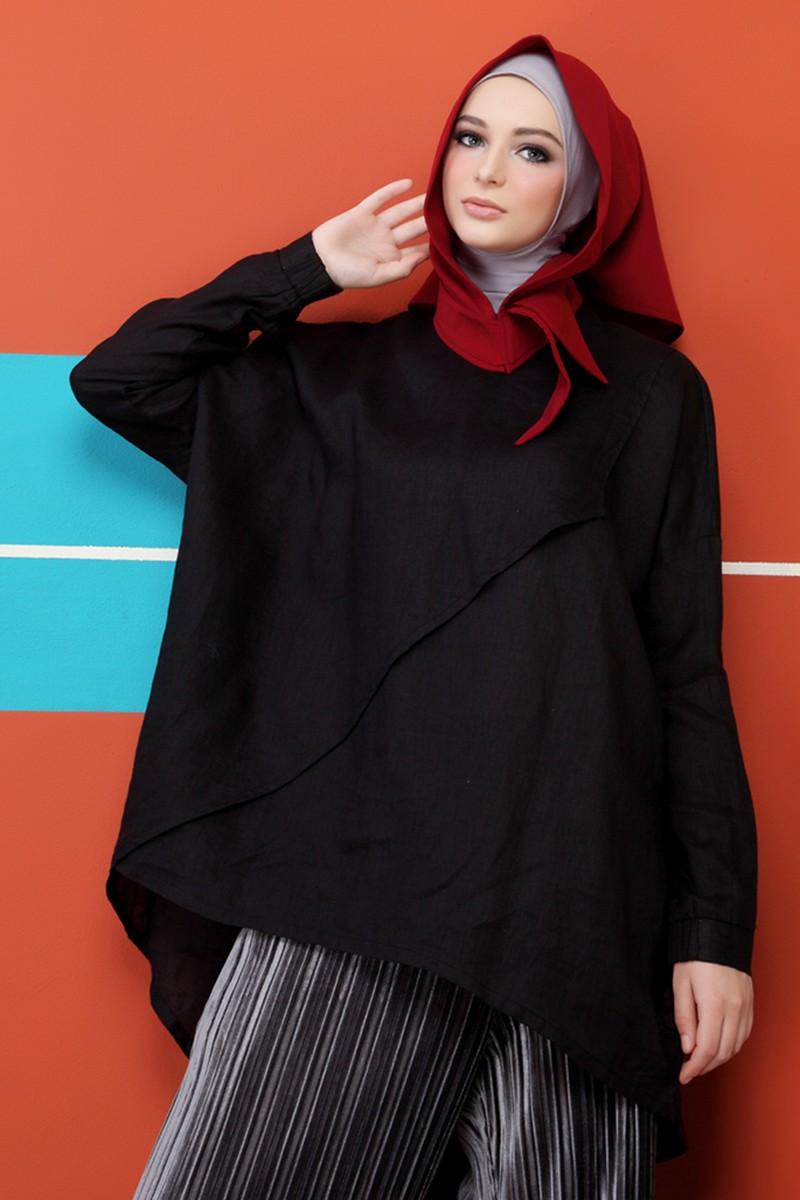 LAmont Plain Blouse Black