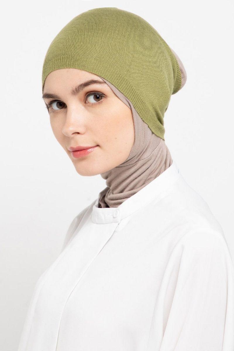 Headband Knitting Green Olive