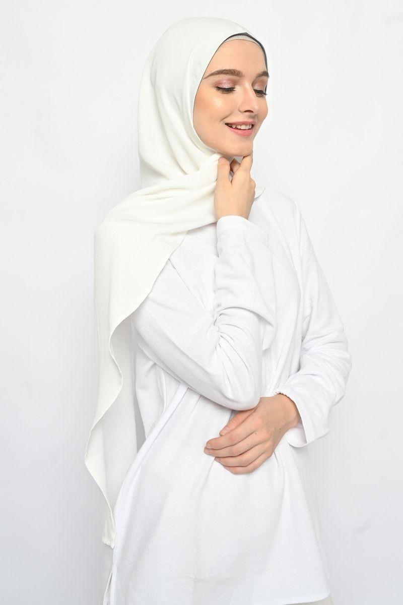 Instant Headwear LONG CAPUCHON White