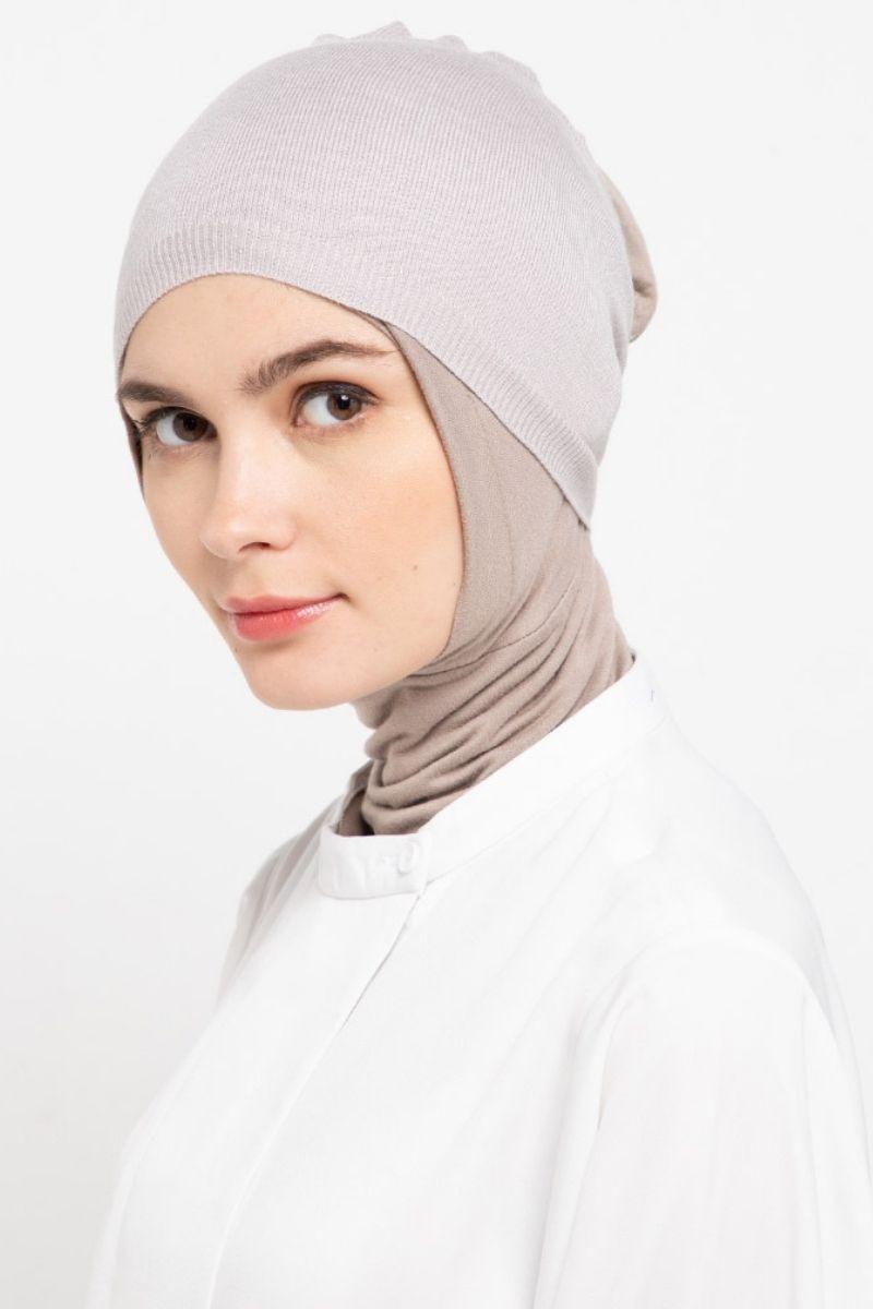 Headband Knitting Pale Grey Nw