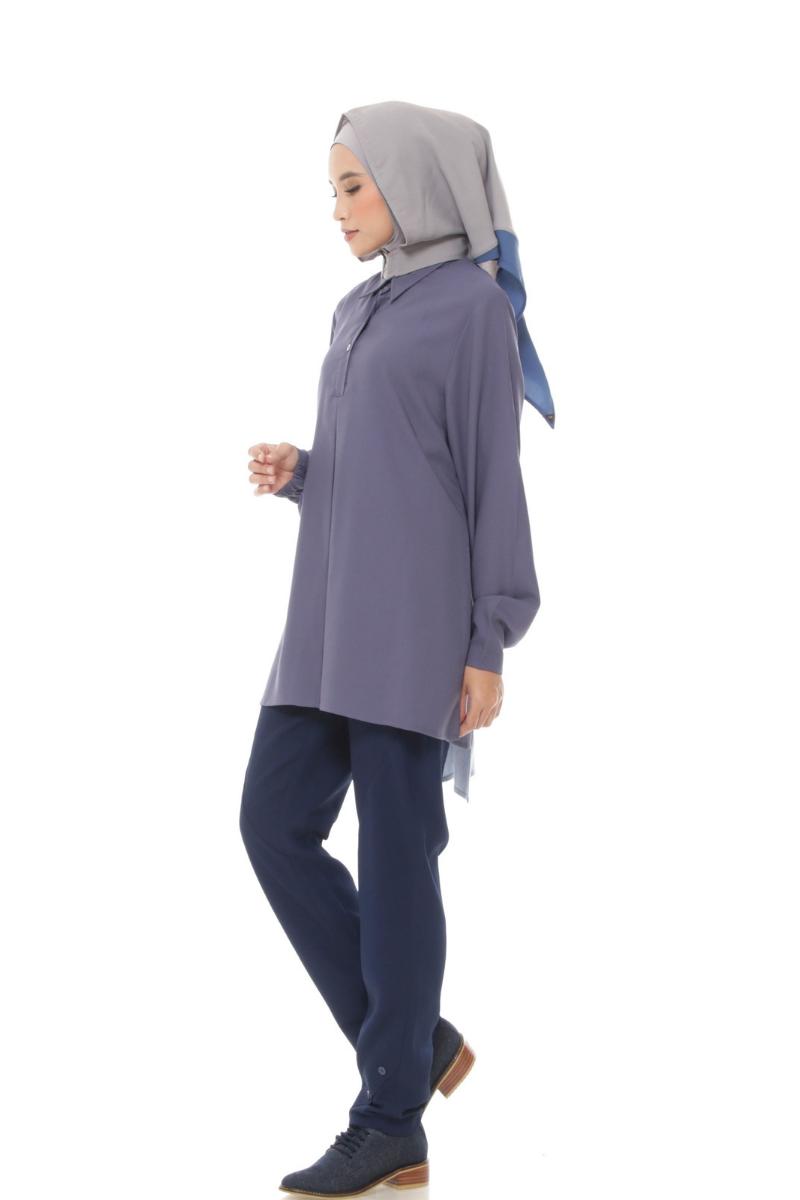 Nixon Shirt Plain Blue 0952 0221