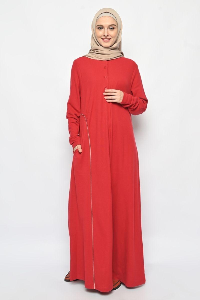 Arvel Dress Plain Red 0321