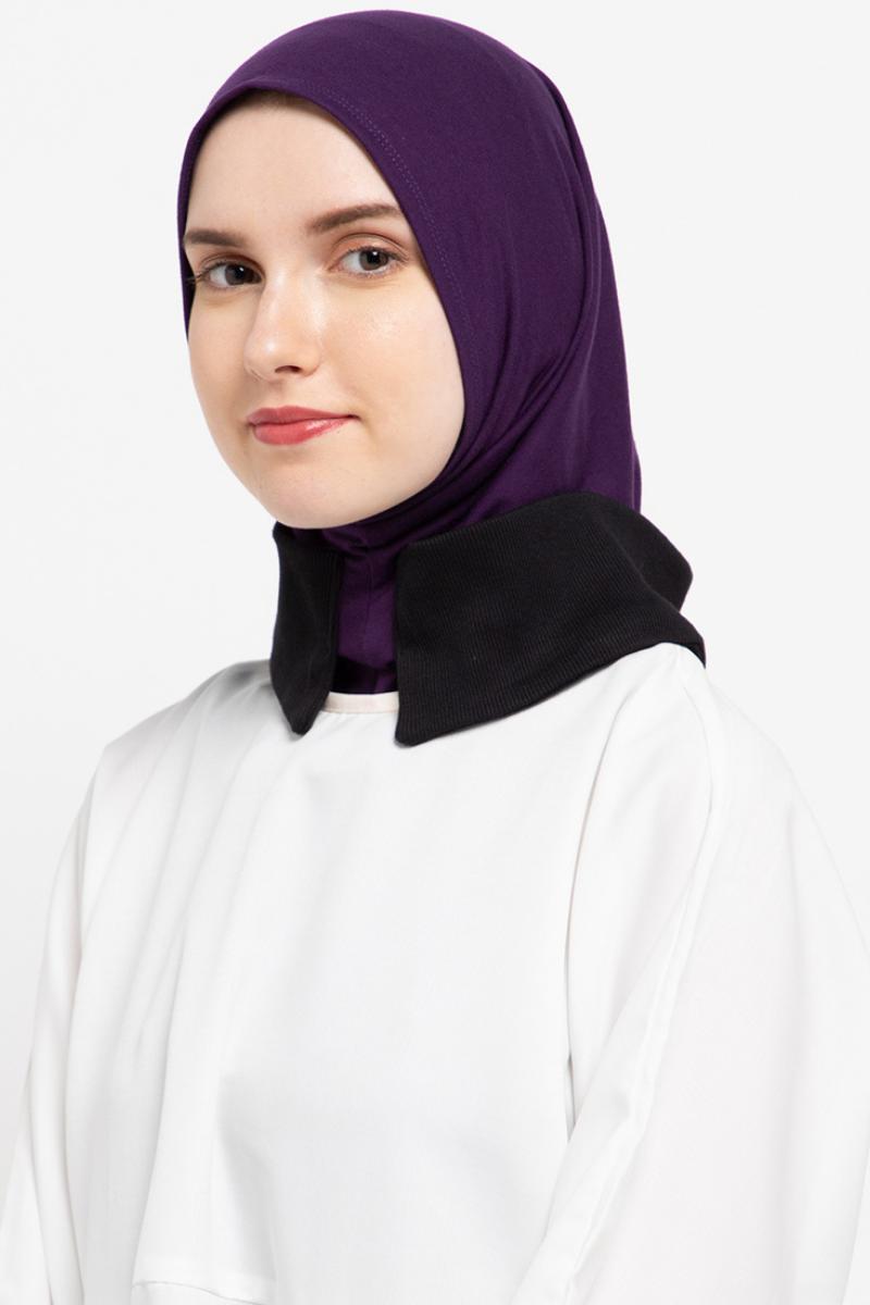 Headwear Simple Purple Rib Black