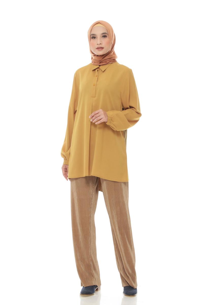 Nixon Shirt Plain Mustard 0952 0221