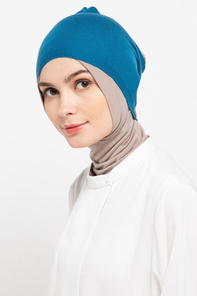 Headband Knitting Soft Blue Nw