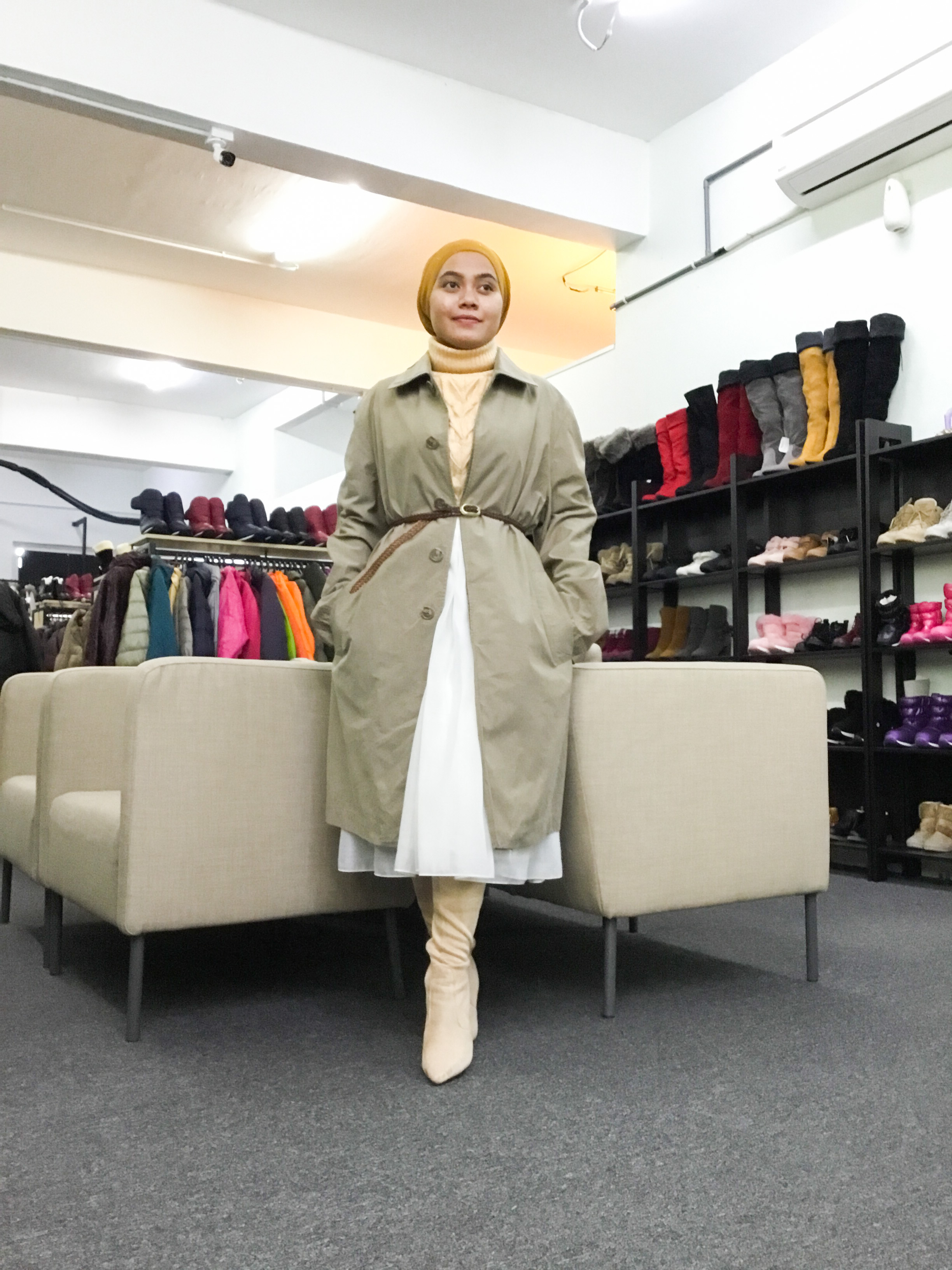 BP6486 MADE IN  ITALY TRENCH COAT