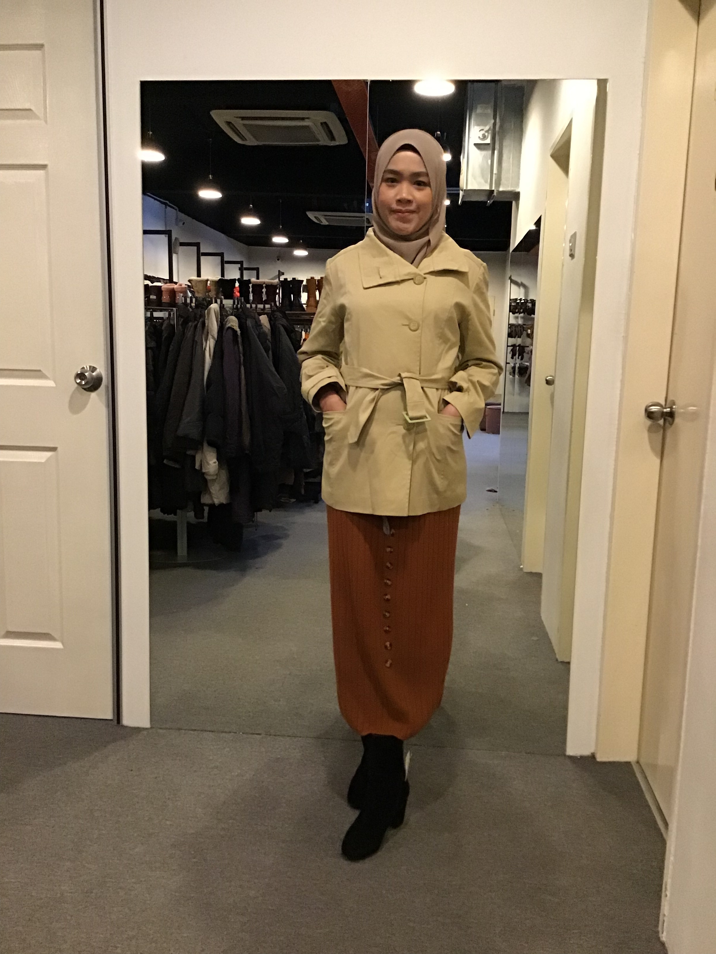 BJ0764 3RD WAVE TRENCH COAT