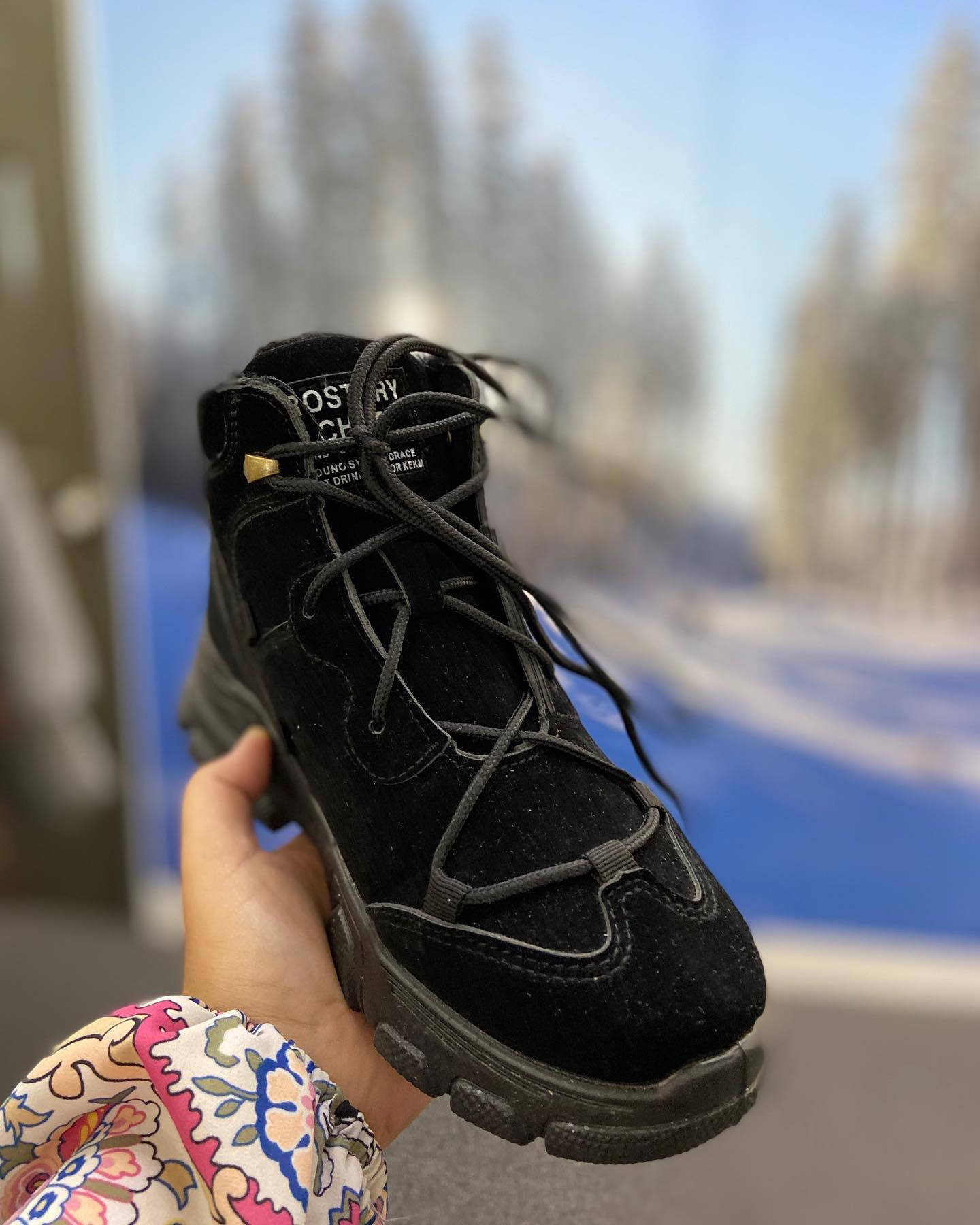 BLACK ROSTORY CHILD WINTER SHOES (NEW)