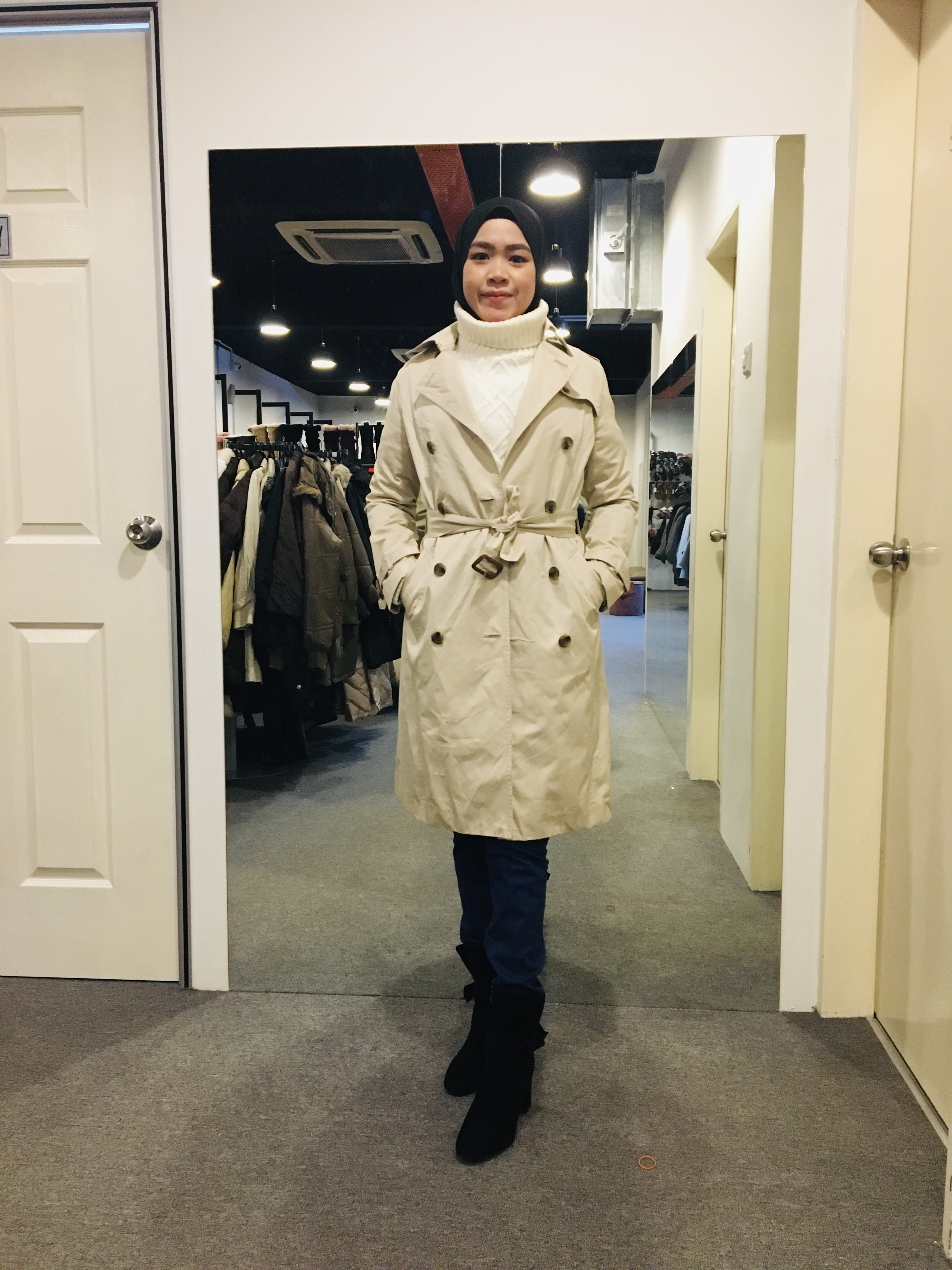 BJ0979 NATURAL BEAUTY TRENCH COAT