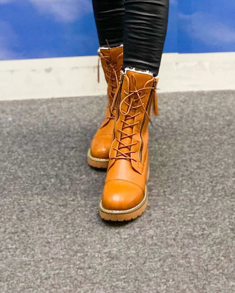 SNPU280 PU LEATHER HIGH BOOTS SNOW (NEW)