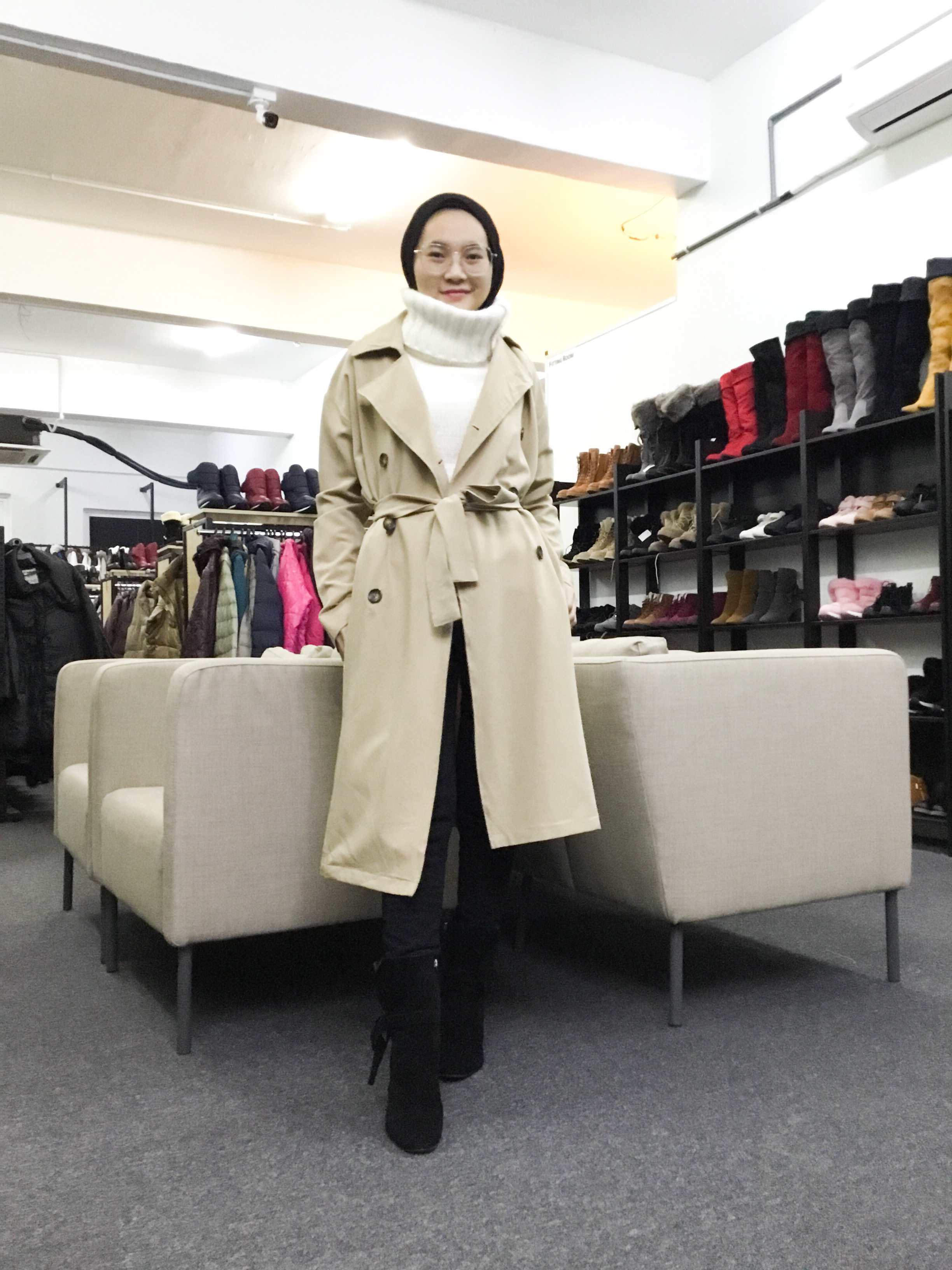 BP6543 RICHE GLAMOUR TRENCH COAT