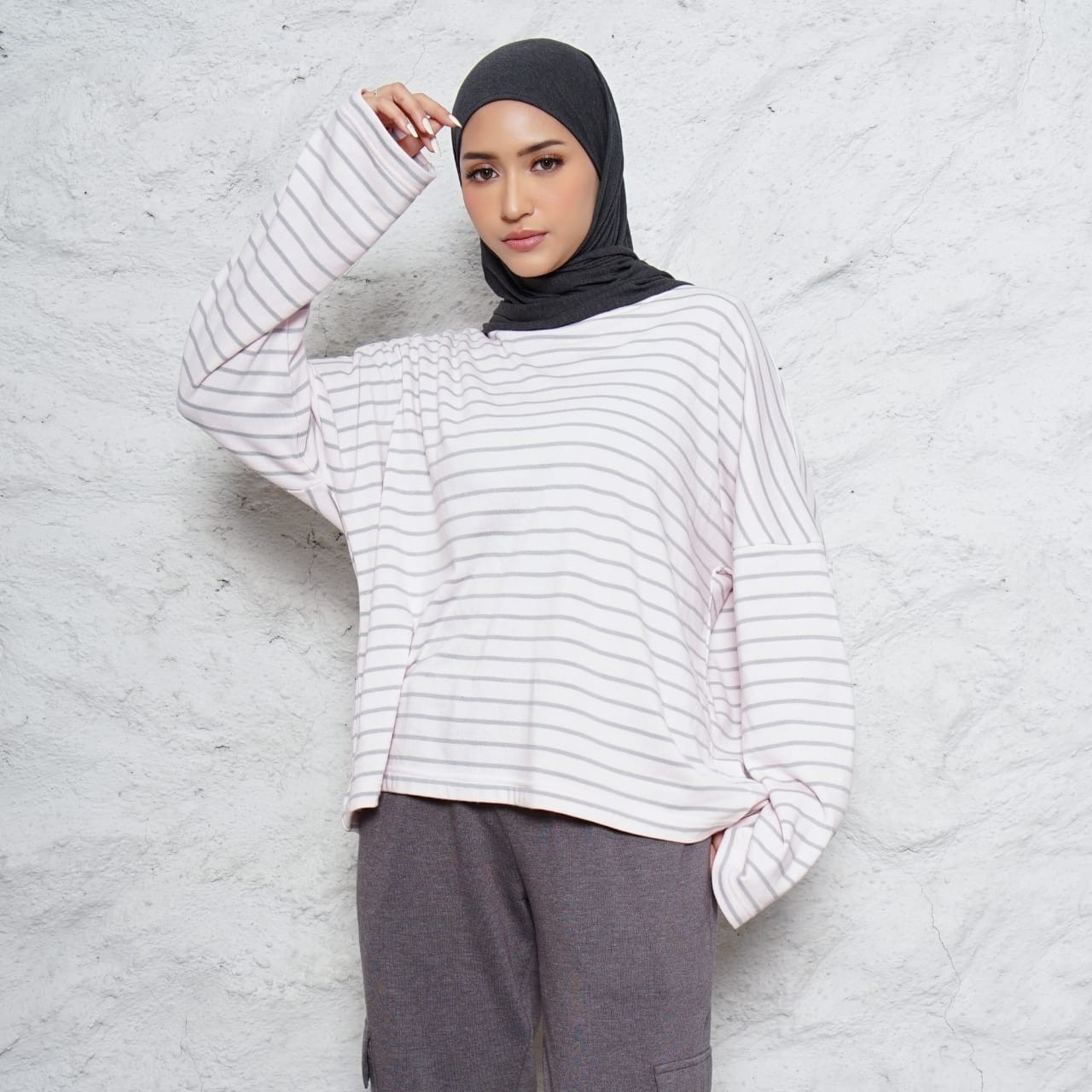 BECKY TOP STRIPE BABY PINK