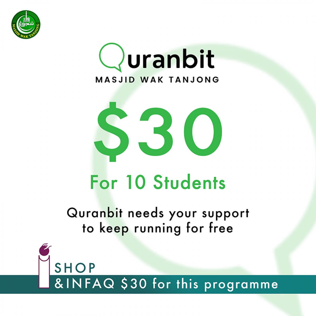 Quranbit Infaq for 10 students - InfaqBit