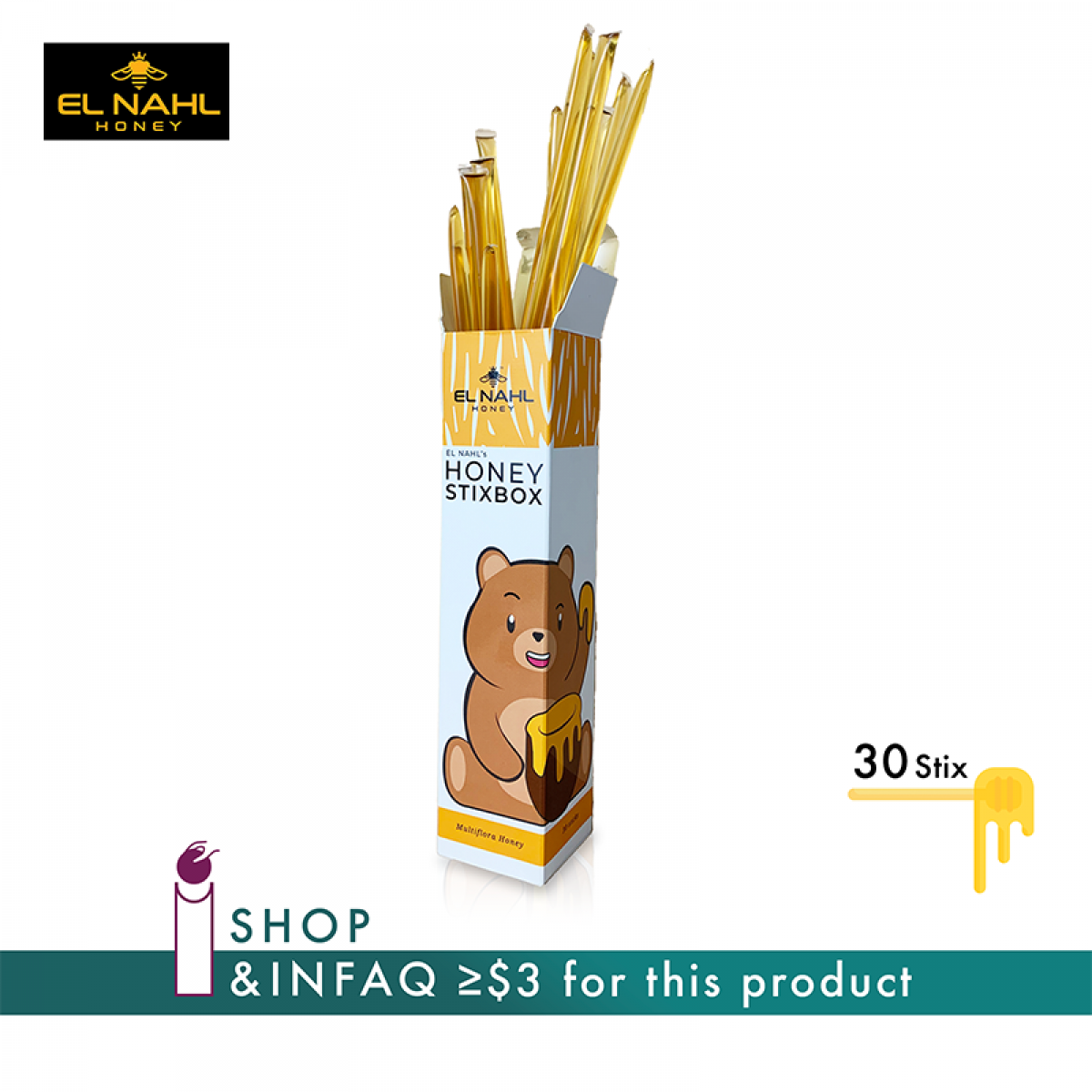 EL-NAHL Multiflora Honey Stixbox - InfaqBit