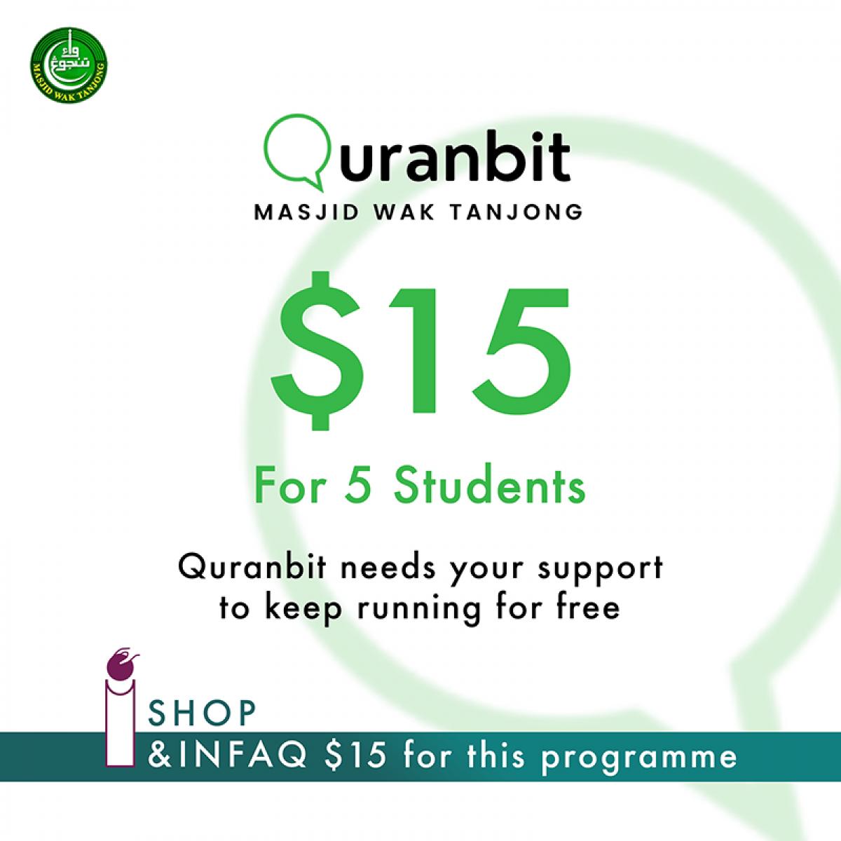 Quranbit Infaq for 5 students - InfaqBit