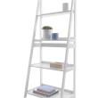 4 Tier Ladder Shelf White - KusyaHome- Scandinavian Furniture & Decoration Online Malaysia