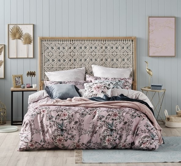 Ombre Home Sakura Bloom Avery Quilt Cover Set QUEEN  - KusyaHome- Scandinavian Furniture & Decoration Online Malaysia