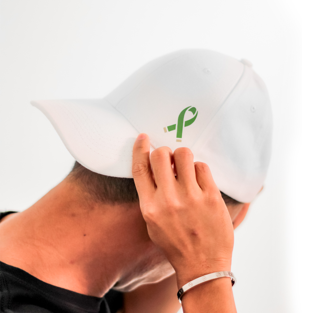 Green Ribbon White Caps