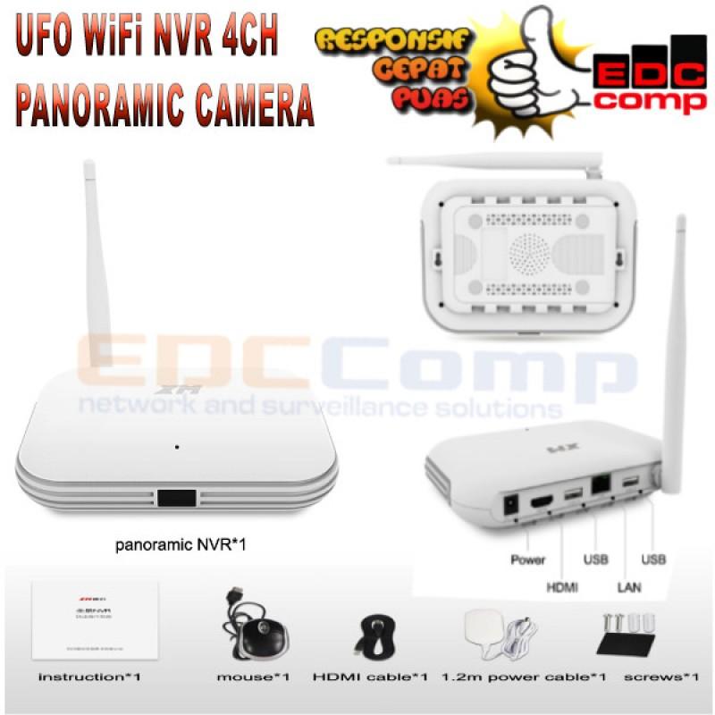 UFO NVR 4CH Panoramic smart WIFI mini NVR support ONVIF