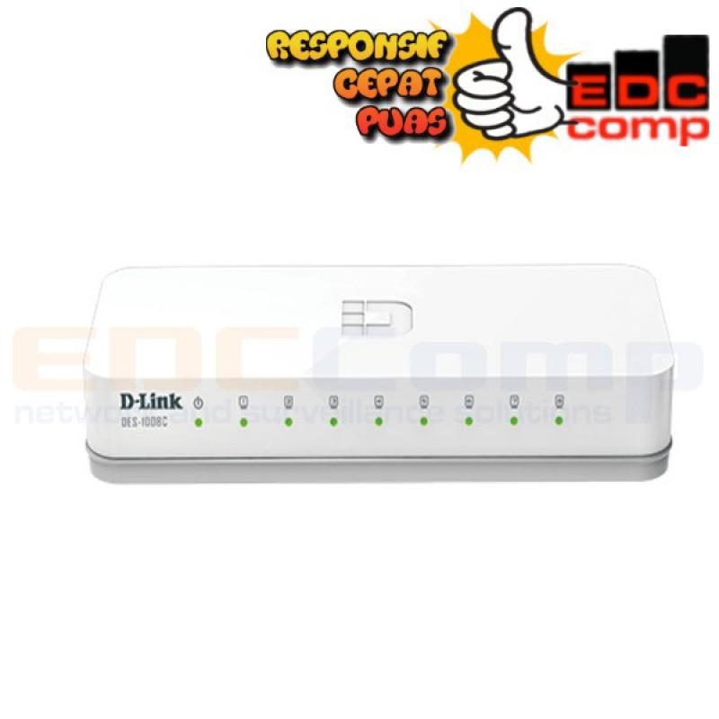 D-Link Switch / Hub 8port 10/100mbps DES-1008A / DES 1008A - EdcComp