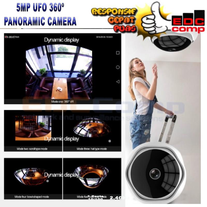 UFO Panoramic 360º HD 5MP Wifi IP Camera Wireless