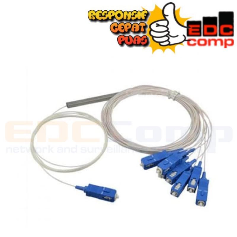 Single Mode Fiber Optic PLC Splitter SC UPC Mini 1x8