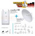 Paket PTP Ubiquiti Rocket 5AC + Dish 5G5 30 LW / R5AC Lite + - EdcComp