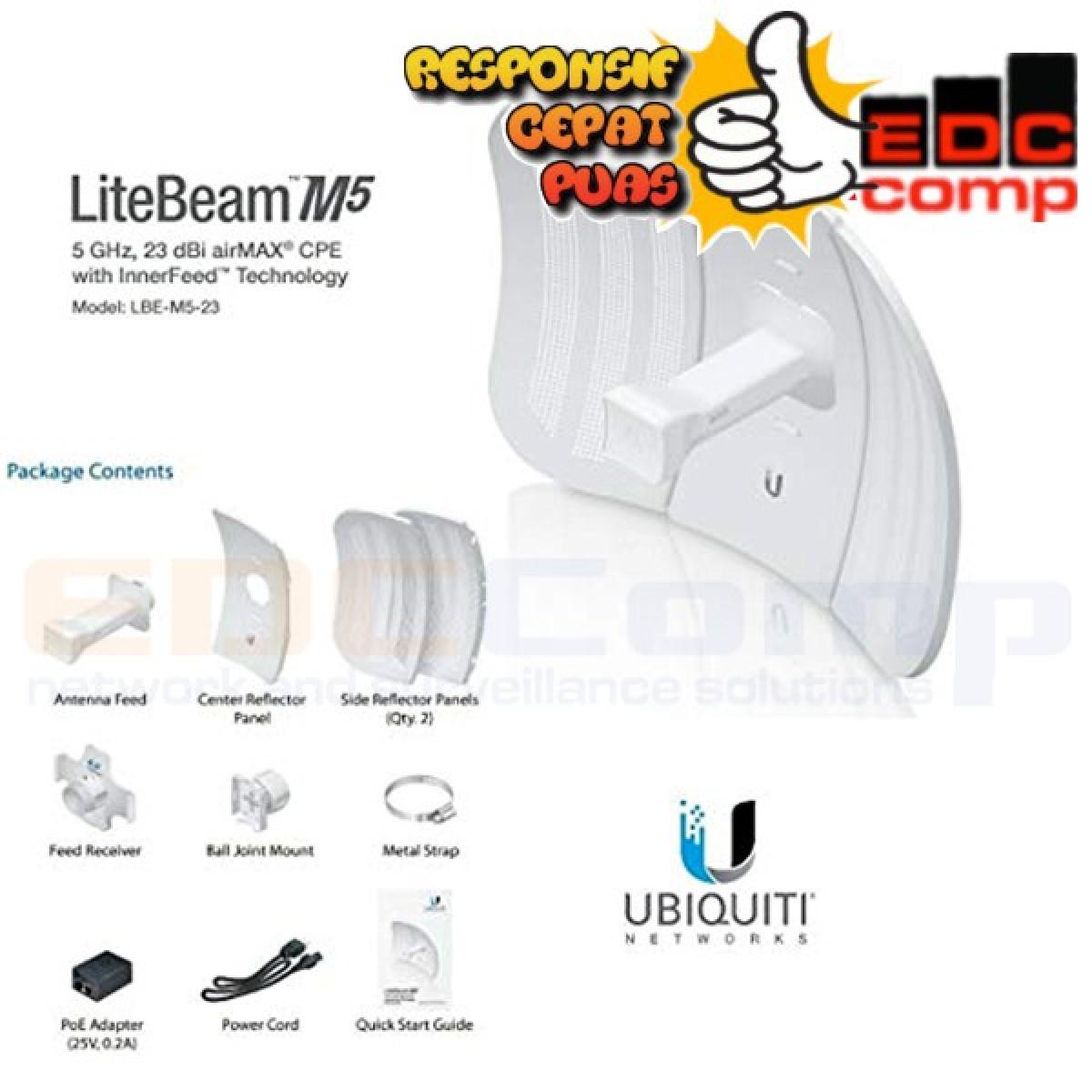 Ubiquiti LiteBeam M5-23 23DBI UBNT LBE-M5-23 Ubiquity LBE M5 23 - EdcComp
