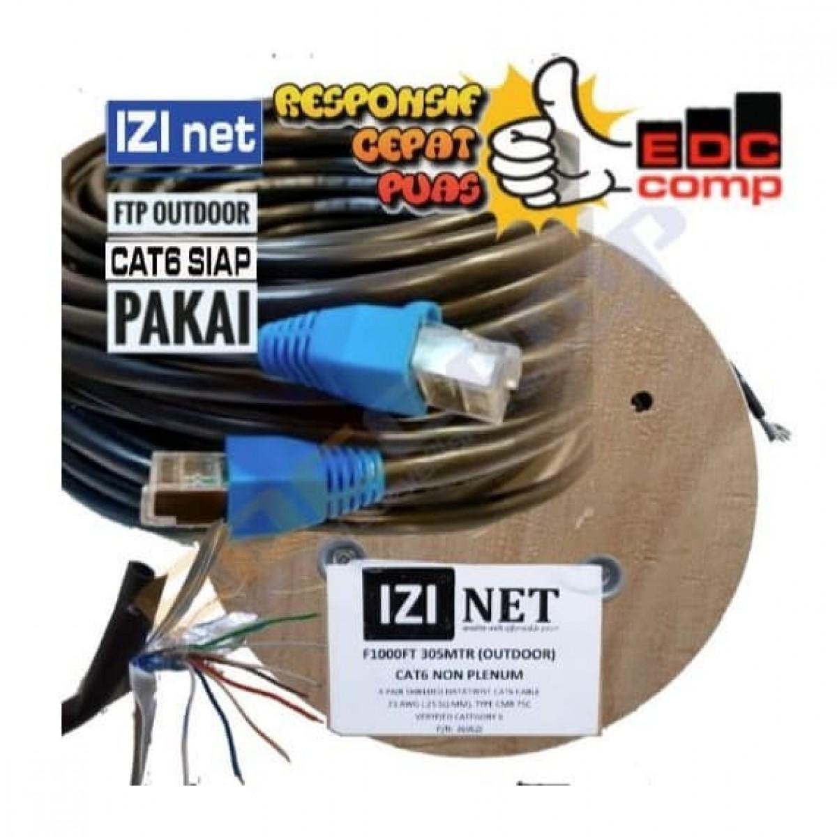 Cable STP/FTP Cat 6 Outdoor Cable 80 Meter IZI net Original - EdcComp