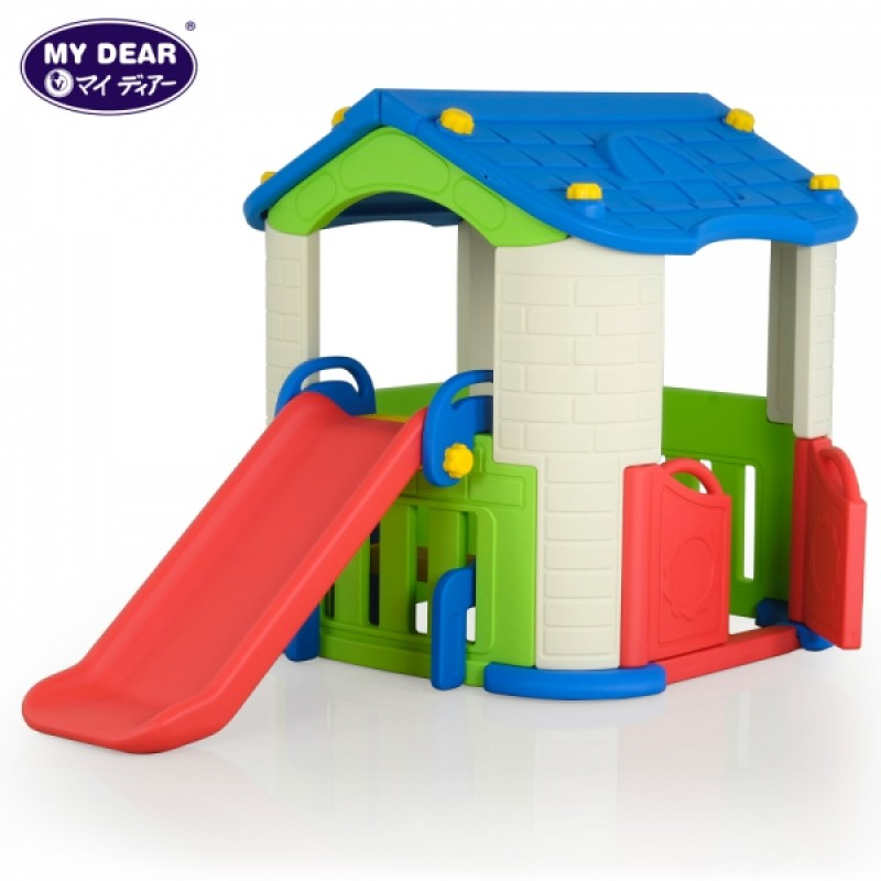 (Chd-801) Happy Playhouse With Slide
