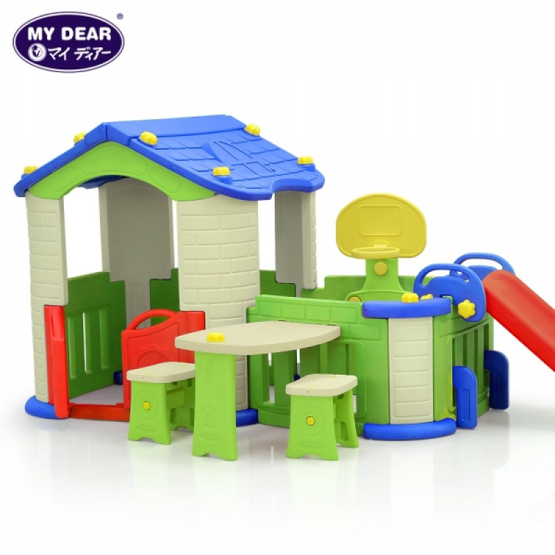 (Chd-356) Pink Big House With 3 Play Activities