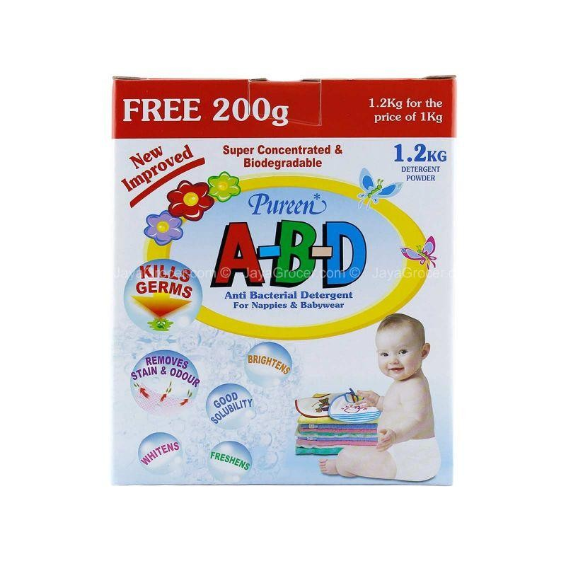 Pureen Abd Anti Bacterial Detergent (1.2kg + Free 200g)