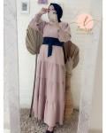 Dress soft peach - Larissa premium