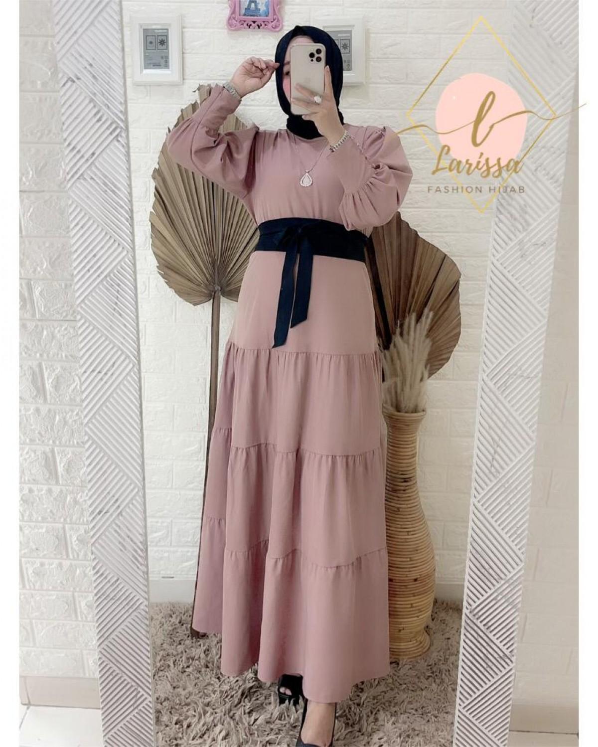 Dress Dark peach - Larissa premium