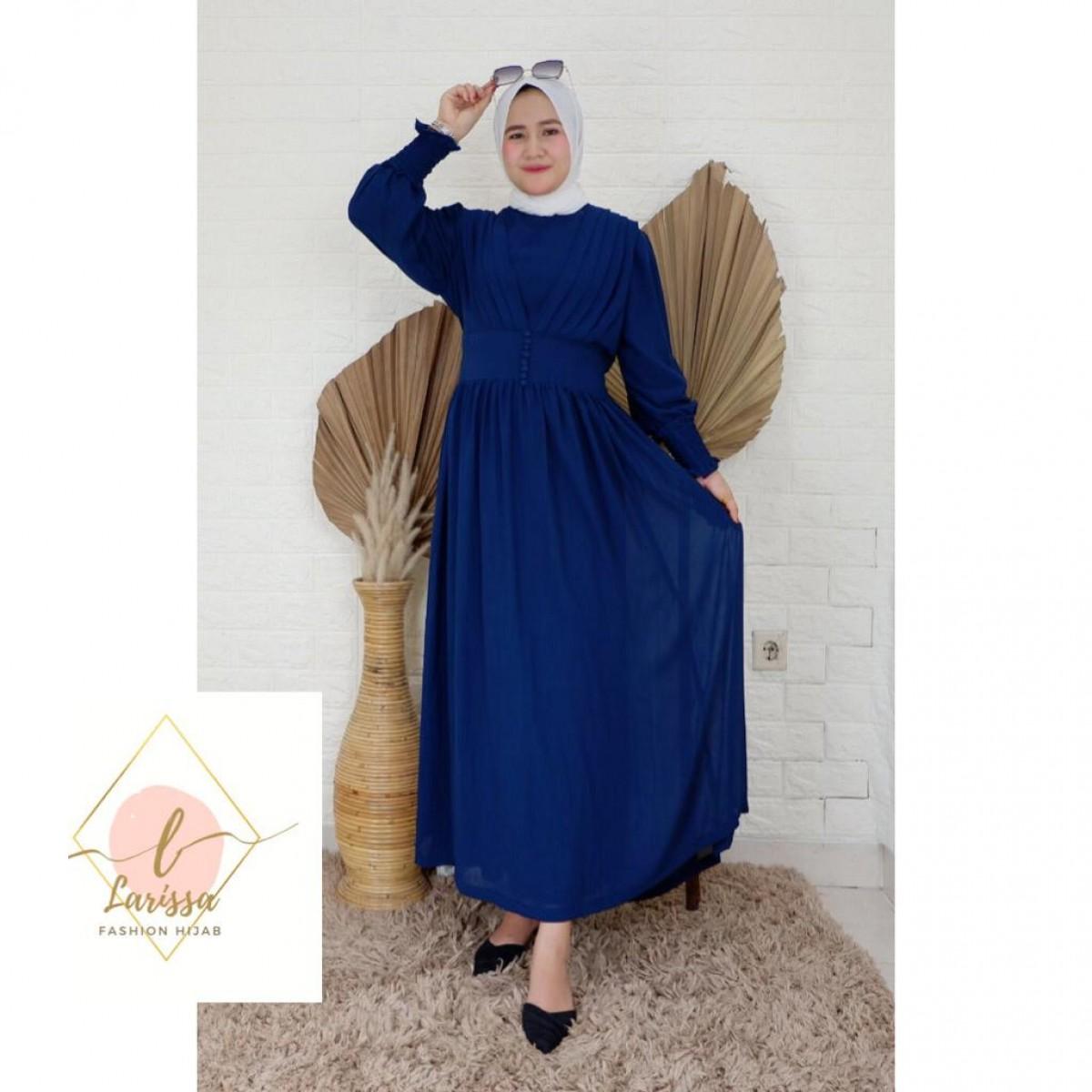Dress Mutia Navy - Larissa premium