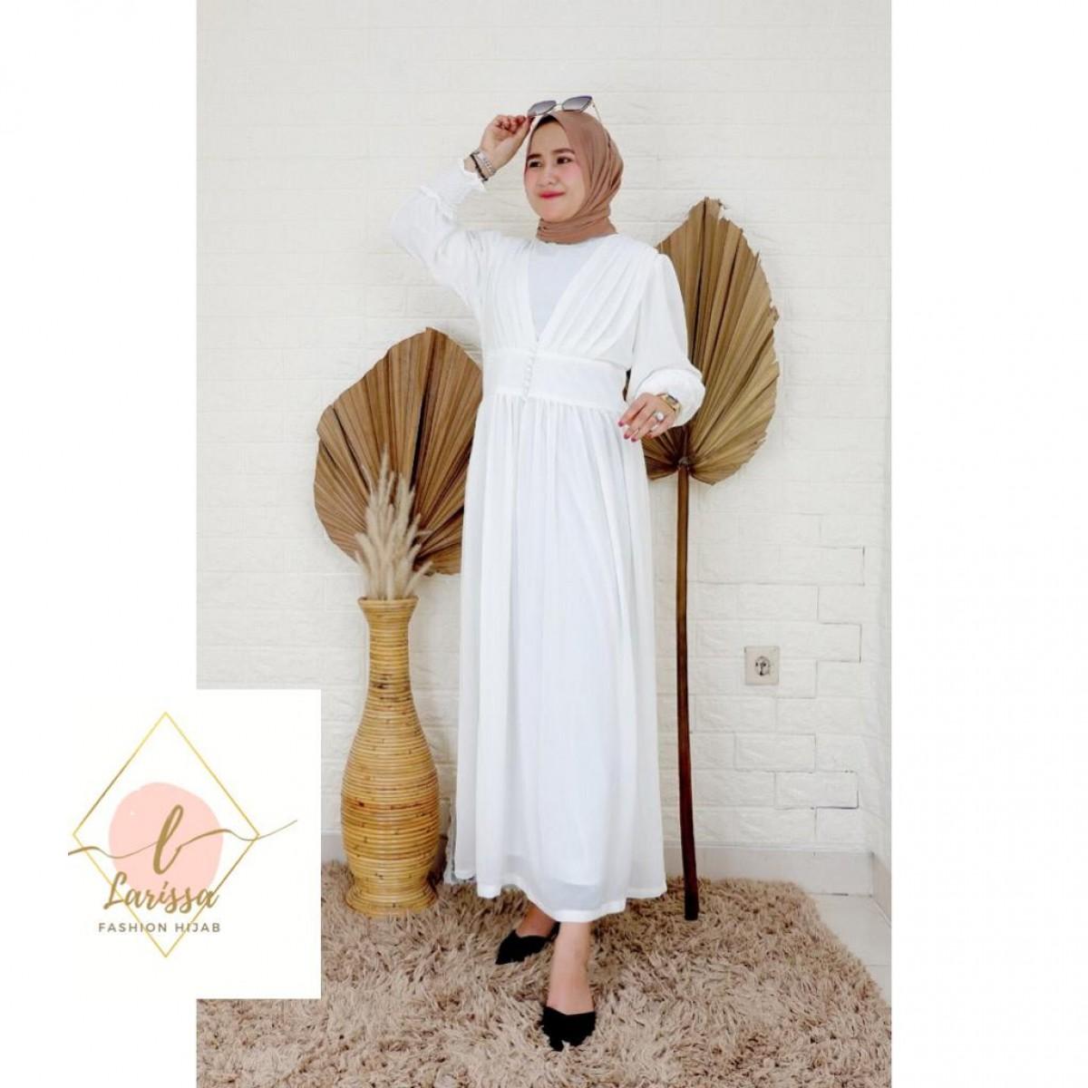 Dress Mutia Putih - Larissa premium
